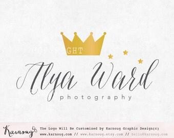 Crown Logo, Princess Logo, Queen Logo, Boutique Logo, Photography Logo, Glitter Logo, Premade Logo, Custom Logo
