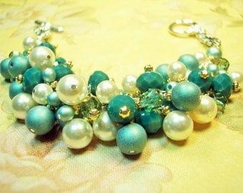 Kit Aqua cluster bracelet