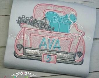 Diva truck applique shirt
