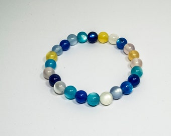 Beaded Bracelet Clear - Pearl Beads Bracelet