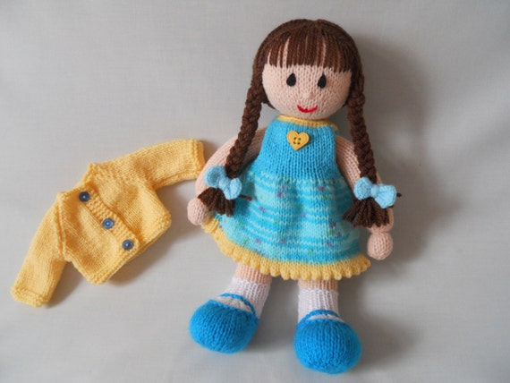 Knitting Jenny Toys : Doll hand knitted jenny made by littledazzler