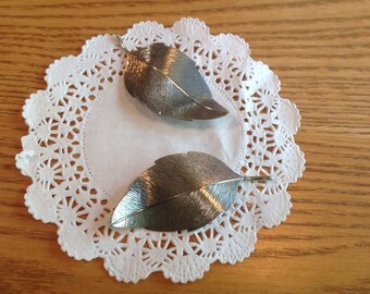 Vintage Beau Sterling Leaf Pins