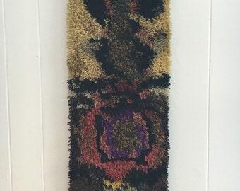 Vintage Textile Fiber Art Wall Hanging