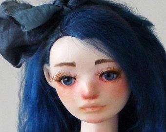 "Art BJD doll, Handmade BJD doll, OOAK ""Nona and the Golden Fish"""