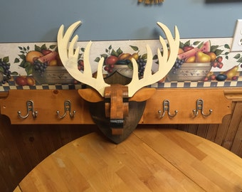 Deer Head Coat Rack