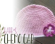 Chemo Cap Hat Crochet Pattern PDF (Barb's Chemo Cap Crochet Pattern by Little Monkeys Crochet) Beanie Hat Pattern, Crochet Chemo Hat