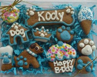 Birthday (Mini Dog Treats) Set Blue - Personalized