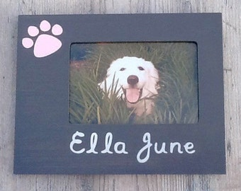 Personalized Dog Picture Frame, Custom Cat Gift, Dog Memorial Frame, Dog Lover Gift, Pet Memorial, New Puppy Gift, Man's Best Friend