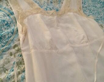Vintage rayon 1940s slip/nightgown