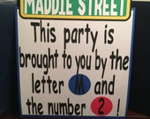 "XL - 14"" - Sesame Street Custom Birthday Sign or Centerpiece with the Sesame Street Sign"