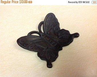 On Sale Black Wrought Iron Butterfly