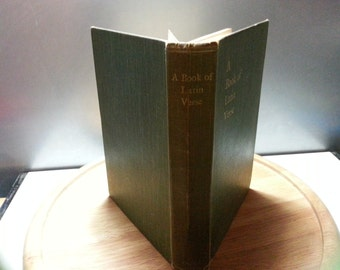 A book of Latin verse, collected by H w Garrod, vintage hardback book ,1915