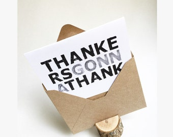 Thankers Gonna Thank - Thank You Card Set