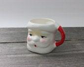 Vintage Santa ceramic coffee mug, Santa face coffee mug