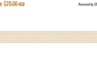 30% OFF SALE 50 yards Beige 1/4 inch SKINNY elastic