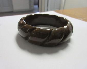 Nice Big Lucite Bangle Bracelet