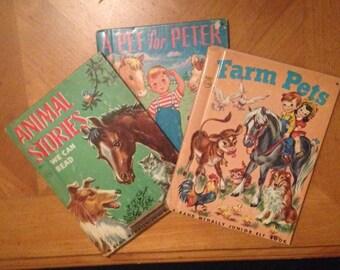 Set of 9 Rand McNally Junior Elf Books