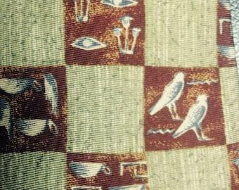 "Vintage Metropolitan Museum of Art ""masterworks collection"" Egyptian Hieroglyphics Tie"
