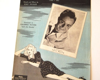 Vintage Sheet Music, I Don't Want to Love You