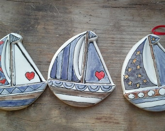 A sail boat wall hanging. Another creation by Hank and Kath.