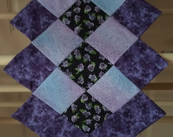 Table Runner Purple Pansy