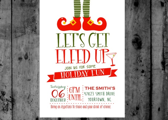 items similar to let u0026 39 s get elfed up christmas party