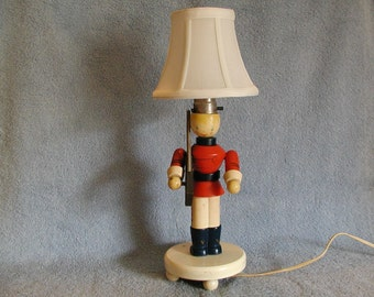 Child's Lamp - Wooden Soldier - Nursery Plastics