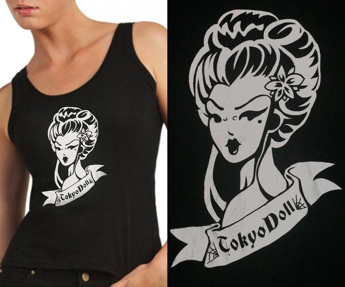 Camiseta tirantes mujer Geisha