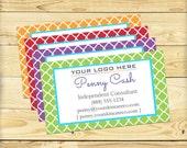 Custom Business Card, Quatrefoil Design - DIGITAL FILE