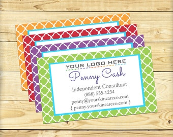 Custom Business Card, Quatrefoil Design - DIGITAL FILE