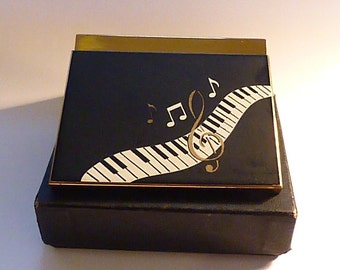Musical powder boxes musical compacts UNUSED VOLUPTE MUSICAL book piece powder box gifts for musicians