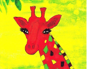 Birthday card, Gift Card, Any occasion card, Giraffe gift card with envelope, Giraffe lovers card, Greeting card, Any age greeting card