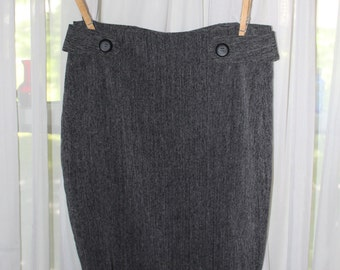Vintage 1990's Charcoal Grey Pencil Skirt By BCX