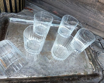 Vintage Glasses, Set of SIX Glasses (6) Barware or Drinkware