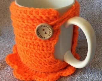 mug cosy, coasterand mug