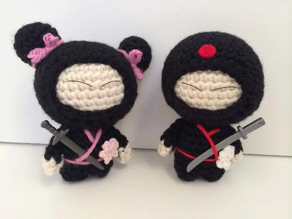 """Ninja 3.5"""" inch tall dolls"""