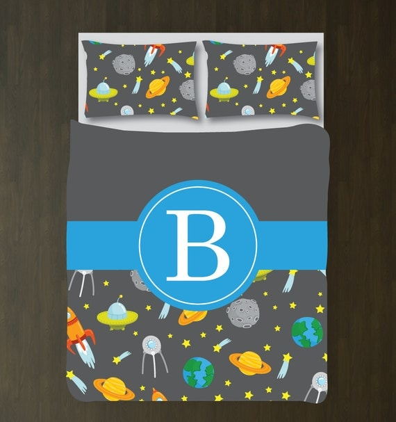 Personalized outer space bedding set duvet for Outer space designs norwich