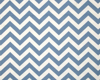 Baby Blue and White Home Dec Fabric - One Yard - Premier Prints Fabric