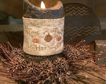 Time to Harvest Candle Wrap