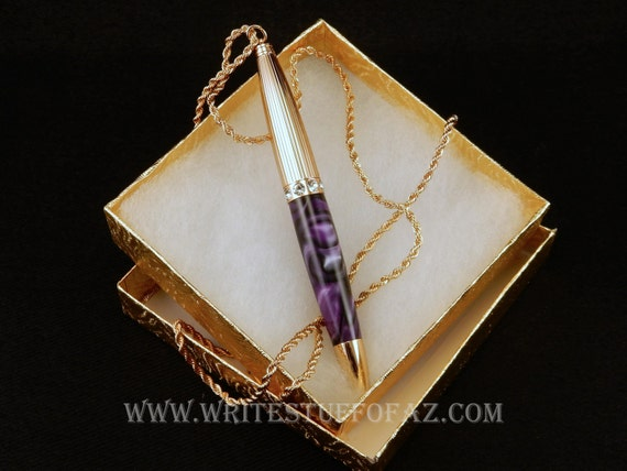 Pen Necklace in Deep Amethyst Royal Purple