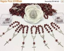10%off weekend sale 25pcs rose Scent mini rosaries favors Wedding, baptism Favor, Communion Favors, Wedding, Recuerditos de Bautizo, Confirm