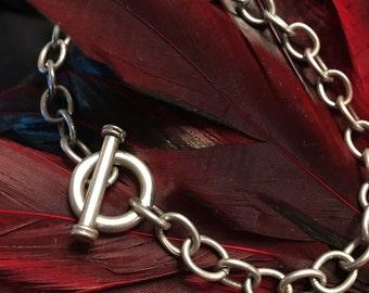 Vintage Sterling Silver Toggle Bracelet (st - 1522)