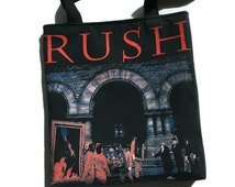 Rush Tote Bag Upcycled T-shirt Bag Rush Band Bag
