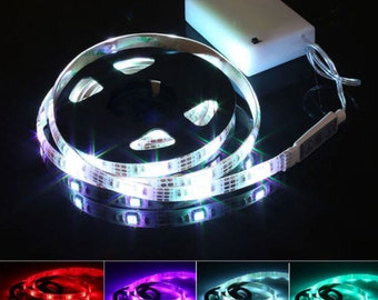 Battery Operated RGB LED Strip Light Kit 20 inches AA Battteries