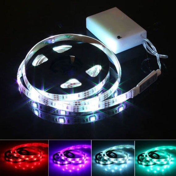 battery operated rgb led strip light kit 20 inches aa. Black Bedroom Furniture Sets. Home Design Ideas