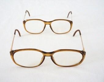 Nerdy Amber Vintage Women Eyewear Frames 70s 80s Glasses