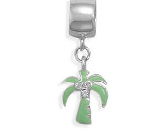 Coconut Tree Bead, .925 Sterling Silver