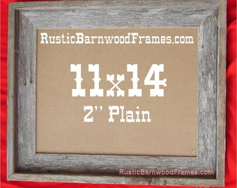"""11x14 2"""" Plain rustic barn wood aged weathered reclaimed primitive photo picture frame 11"""" x 14"""" unfinished repurposed barnwood frames"""
