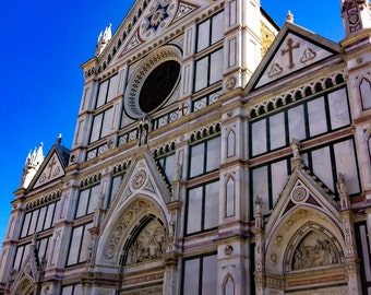 Florence, Italy - Santa Croce - Travel photography - Renaissance - Fransiscan church - art and collectibles - print - wall art - Firenze