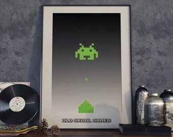 Space Invaders. High Quality Print.